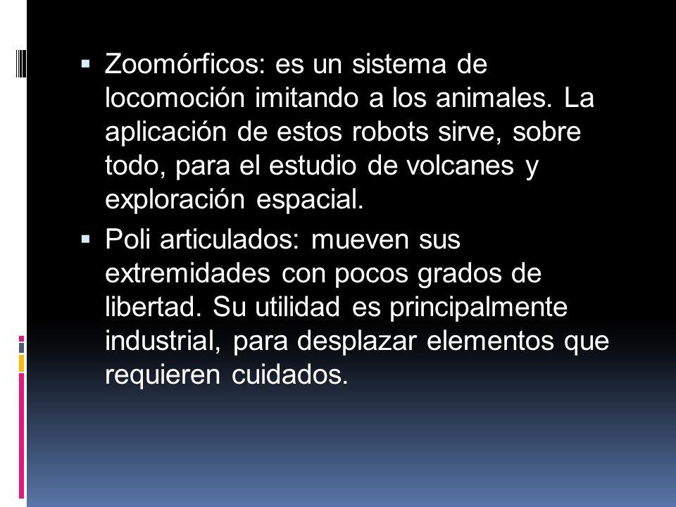 Zoomórficos: es un sistema de locomoción imitando a los animales