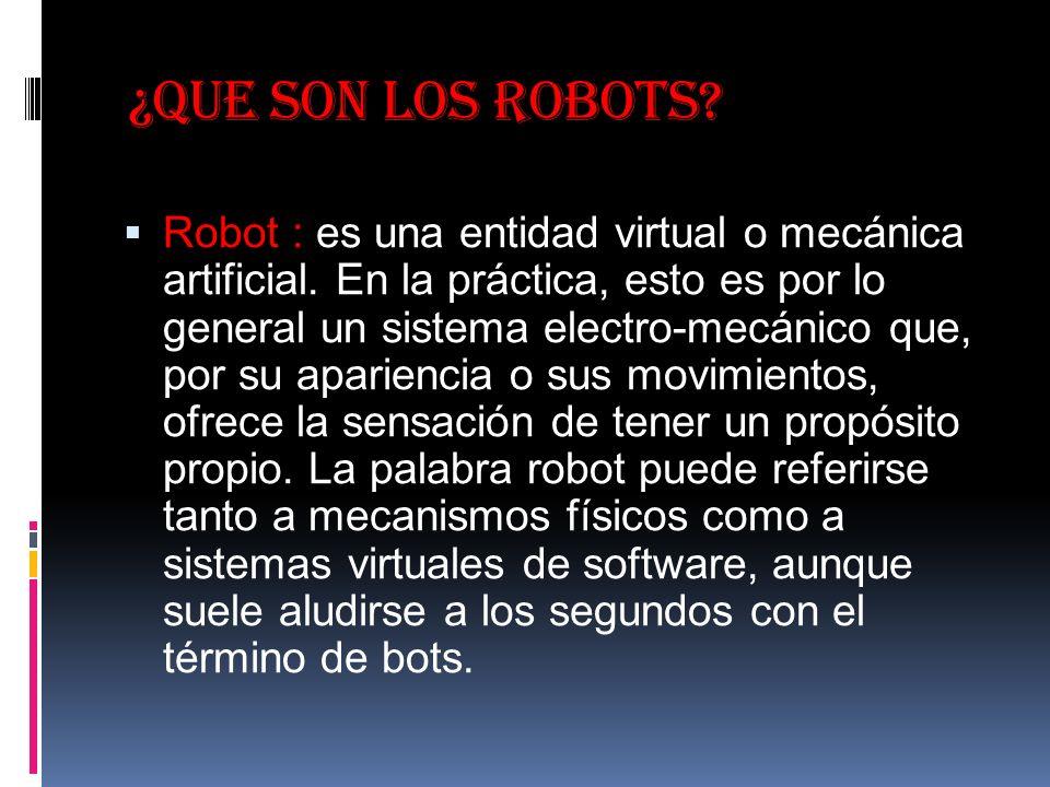 ¿Que son los robots