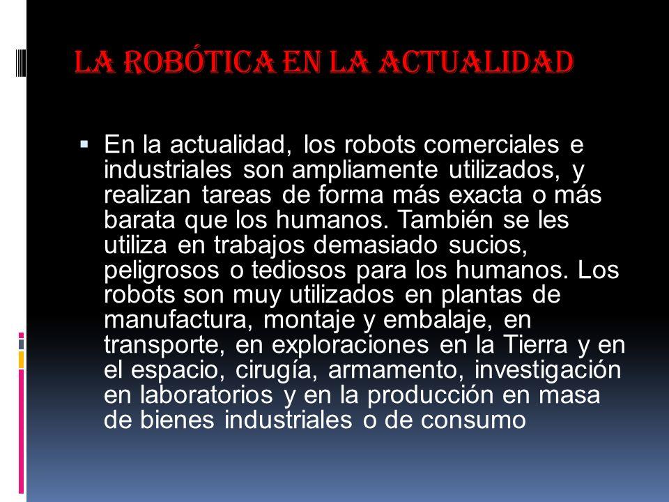 La robótica en la actualidad