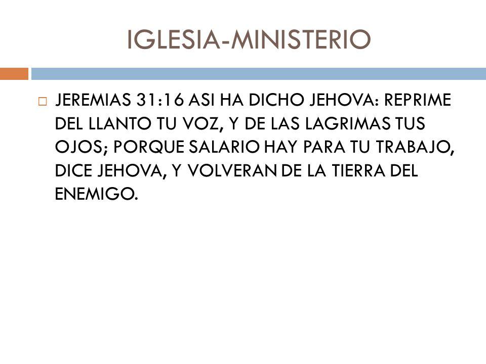 IGLESIA-MINISTERIO