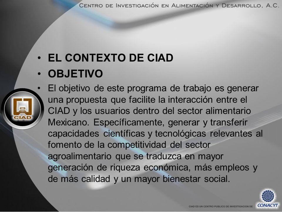 EL CONTEXTO DE CIAD OBJETIVO