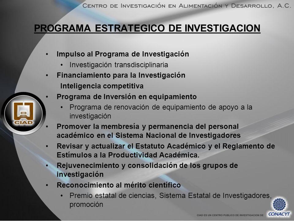 PROGRAMA ESTRATEGICO DE INVESTIGACION