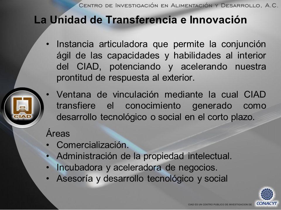 La Unidad de Transferencia e Innovación