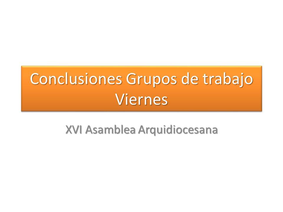 Conclusiones Grupos de trabajo Viernes
