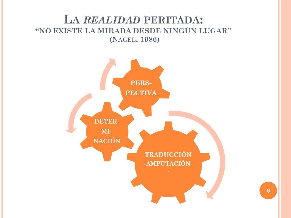 La realidad peritada: NO EXISTE LA MIRADA DESDE NINGÚN LUGAR (Nagel, 1986)