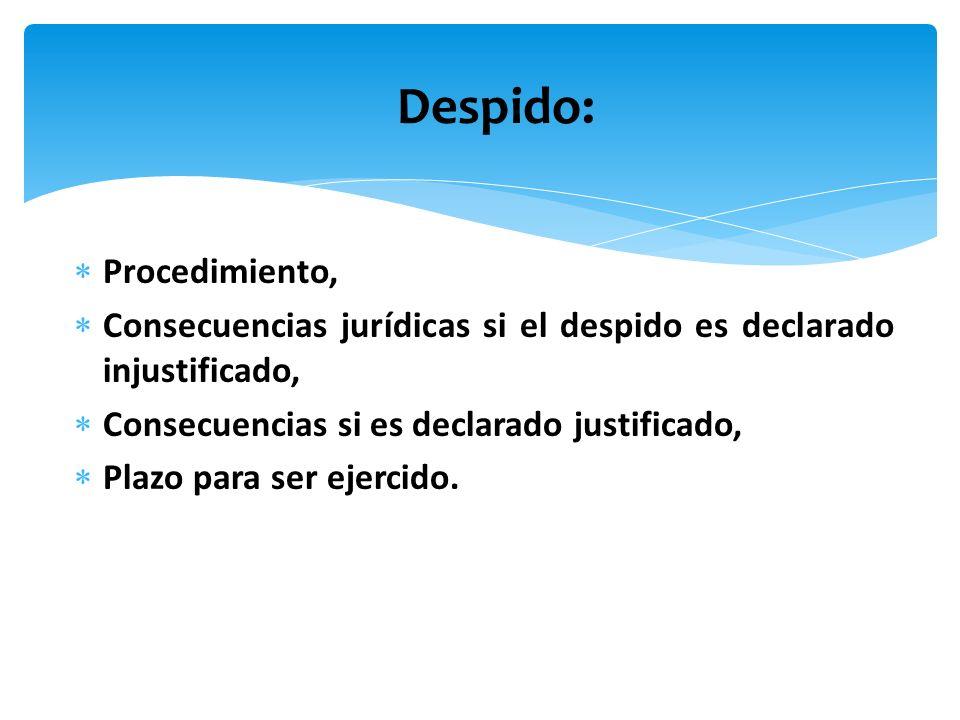 Despido: Procedimiento,