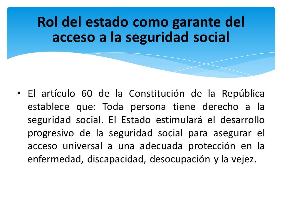 Rol del estado como garante del acceso a la seguridad social