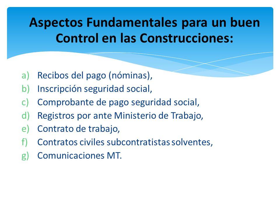 Aspectos Fundamentales para un buen Control en las Construcciones: