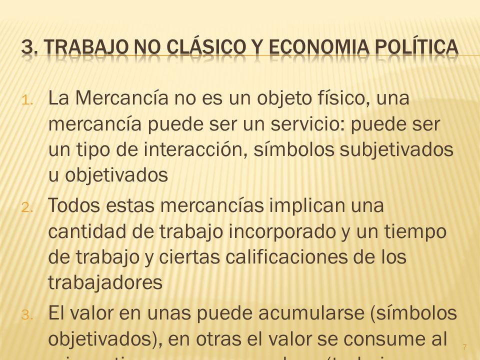 3. Trabajo no clásico y Economia Política