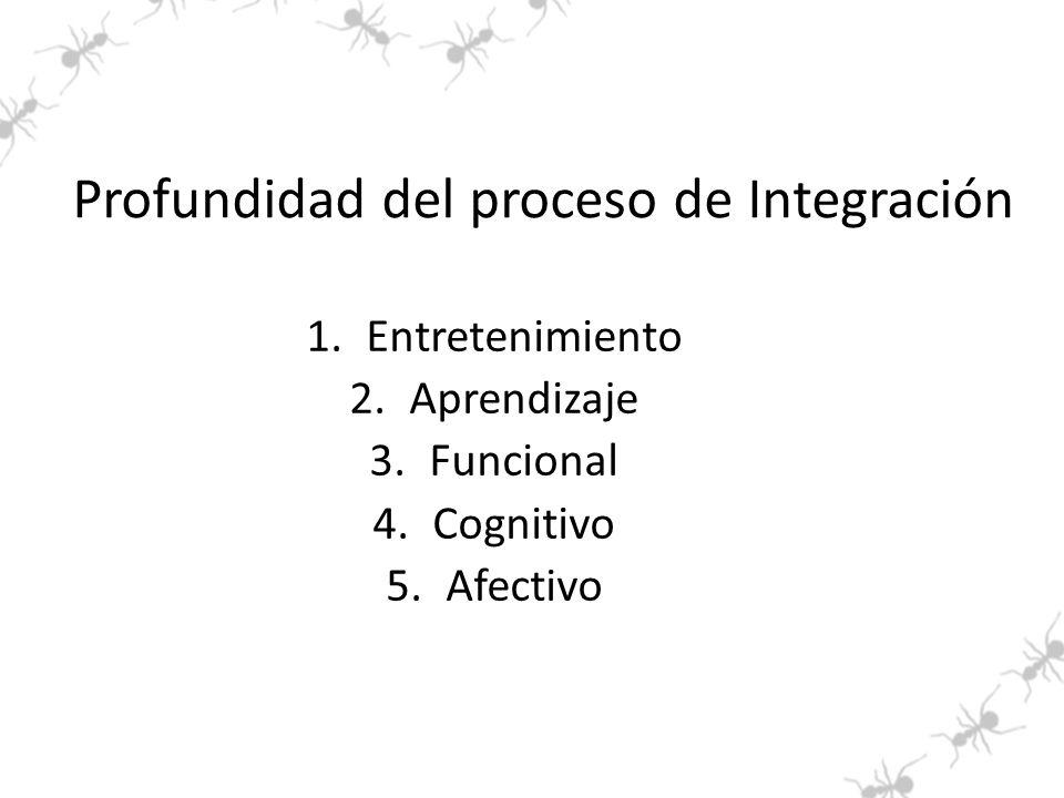 Profundidad del proceso de Integración