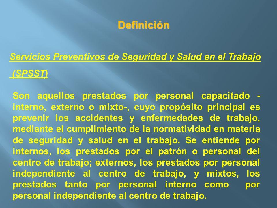 Definición Servicios Preventivos de Seguridad y Salud en el Trabajo