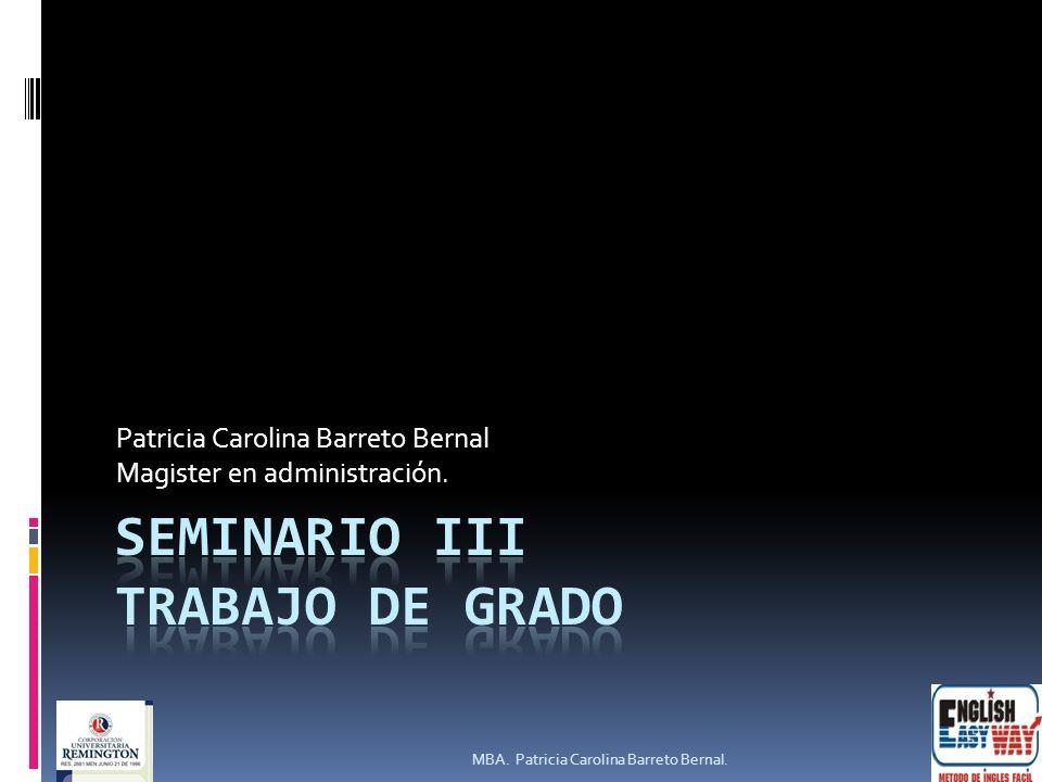 Seminario III TRABAJO DE GRADO