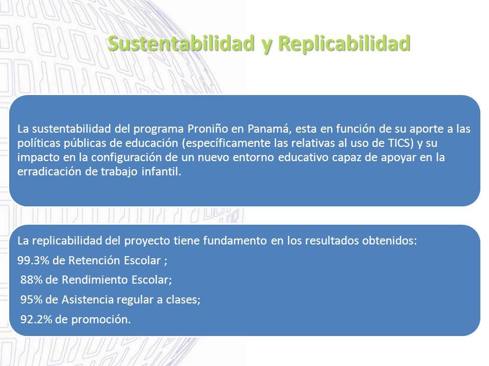 Sustentabilidad y Replicabilidad