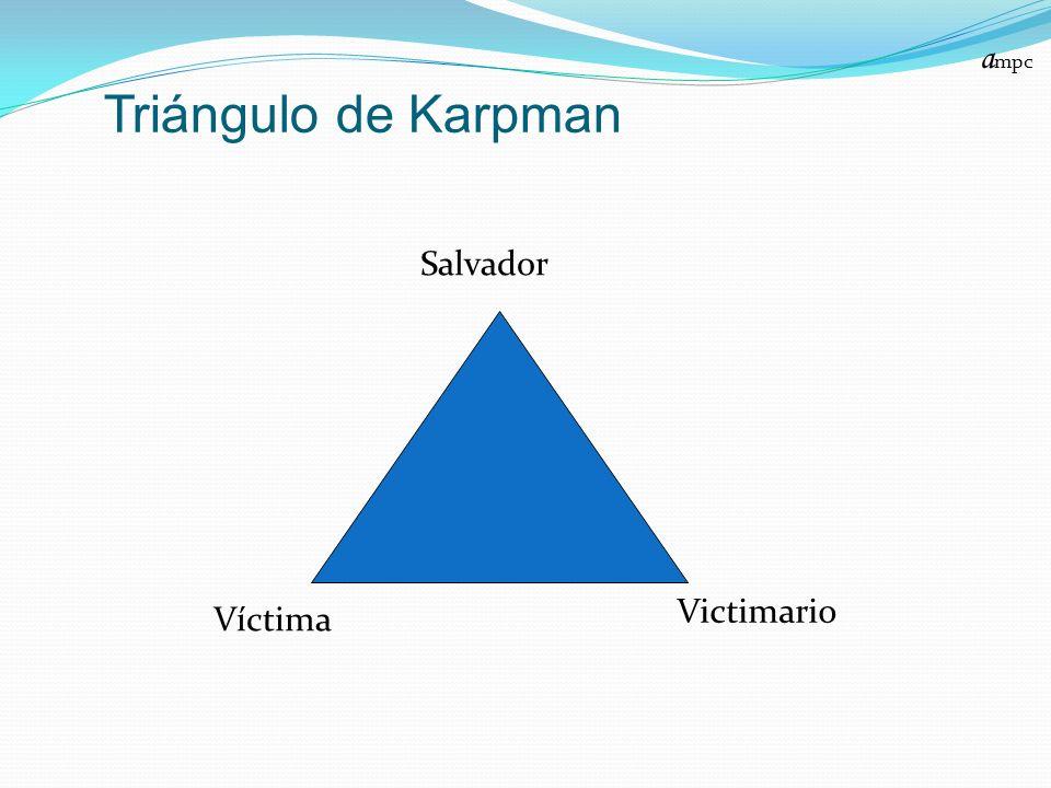 ampc Triángulo de Karpman Salvador Victimario Víctima