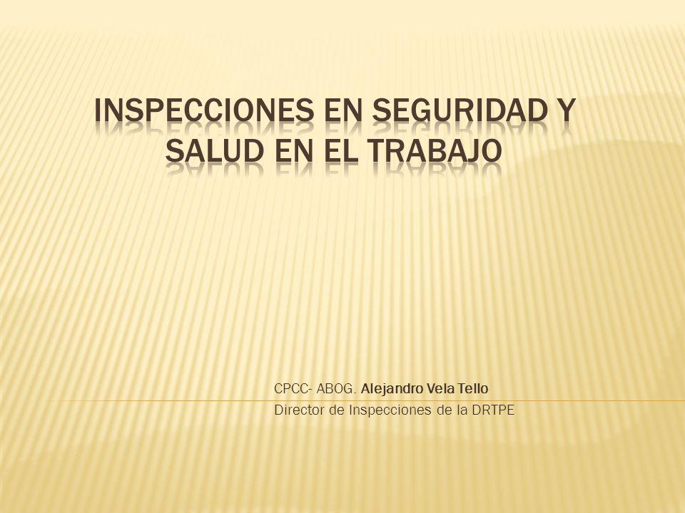 INSPECCIONES EN SEGURIDAD Y SALUD EN EL TRABAJO