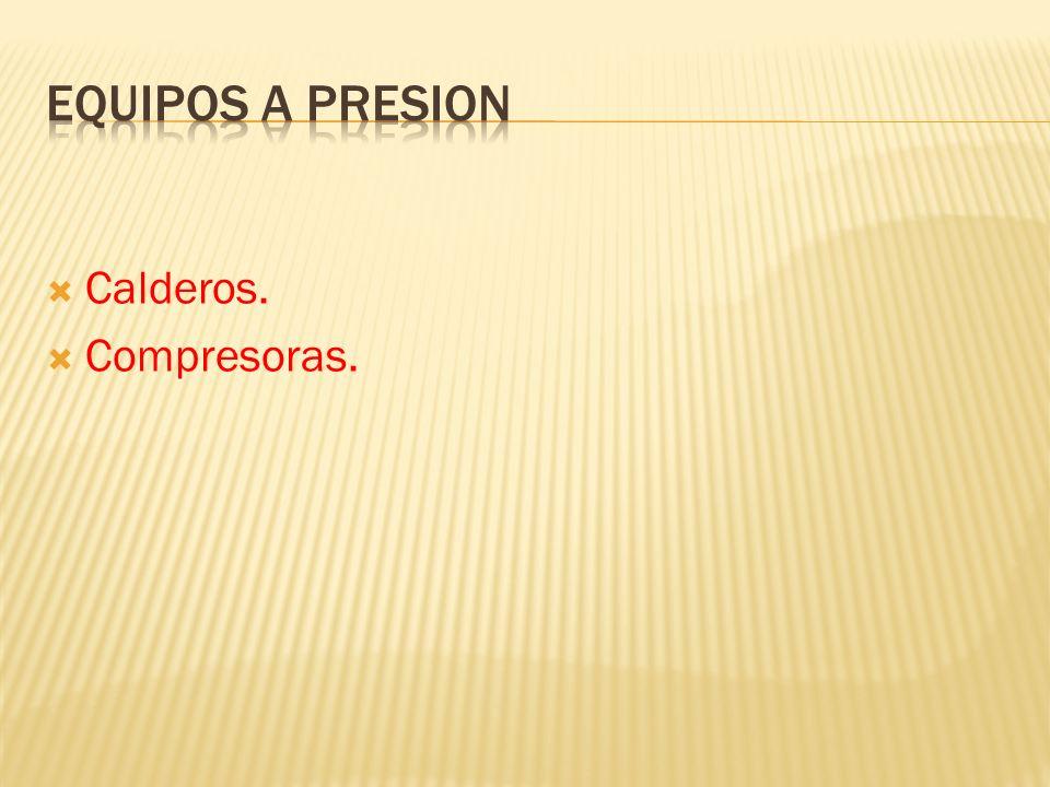 Equipos a presion Calderos. Compresoras.