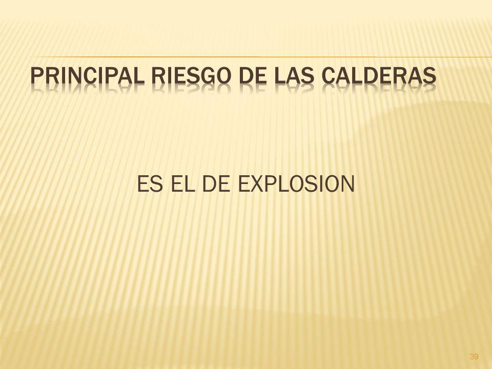 PRINCIPAL RIESGO DE LAS CALDERAS