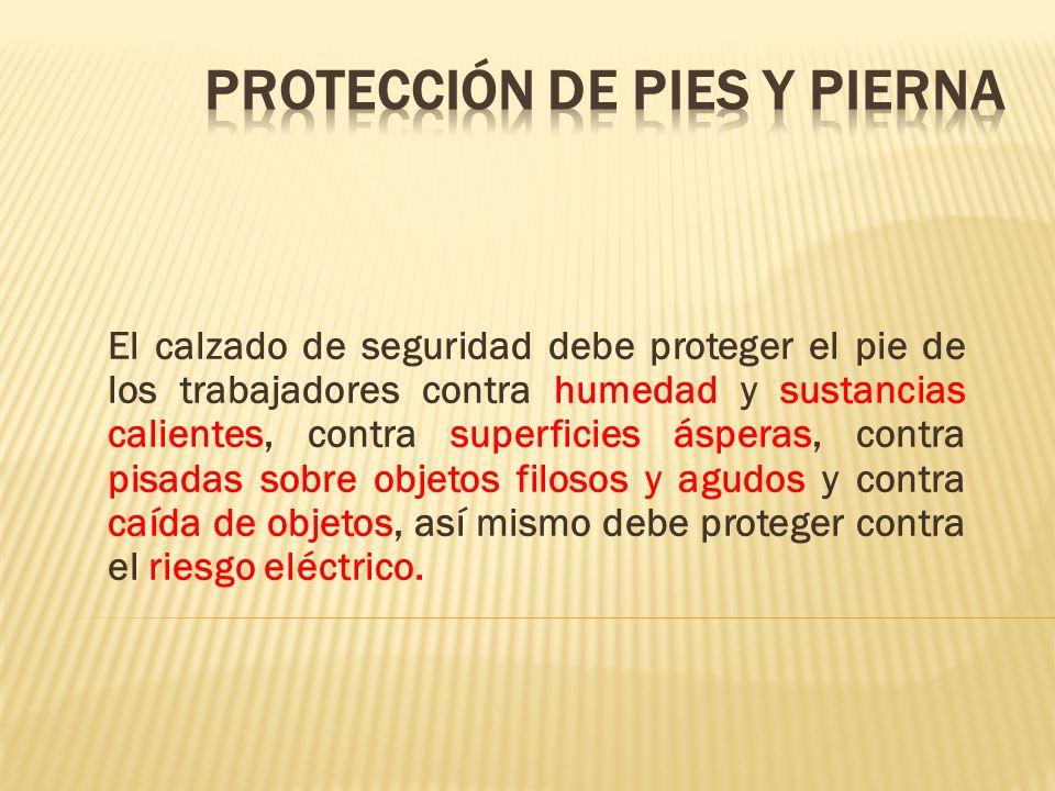 PROTECCIÓN DE PIES Y PIERNA