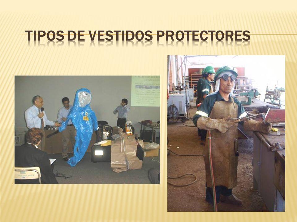 TIPOS DE VESTIDOS PROTECTORES