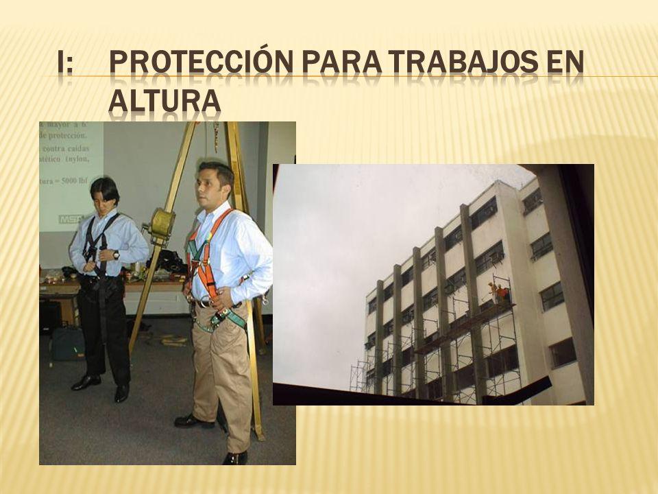 I: PROTECCIÓN PARA TRABAJOS EN ALTURA