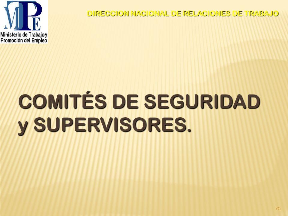 COMITÉS DE SEGURIDAD y SUPERVISORES.