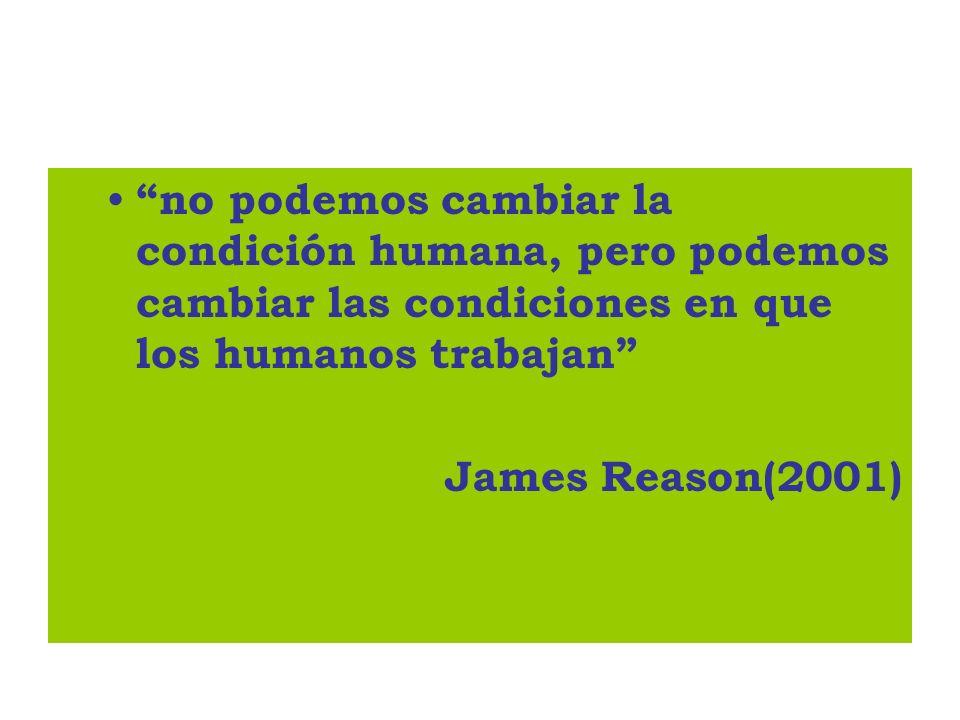 no podemos cambiar la condición humana, pero podemos cambiar las condiciones en que los humanos trabajan