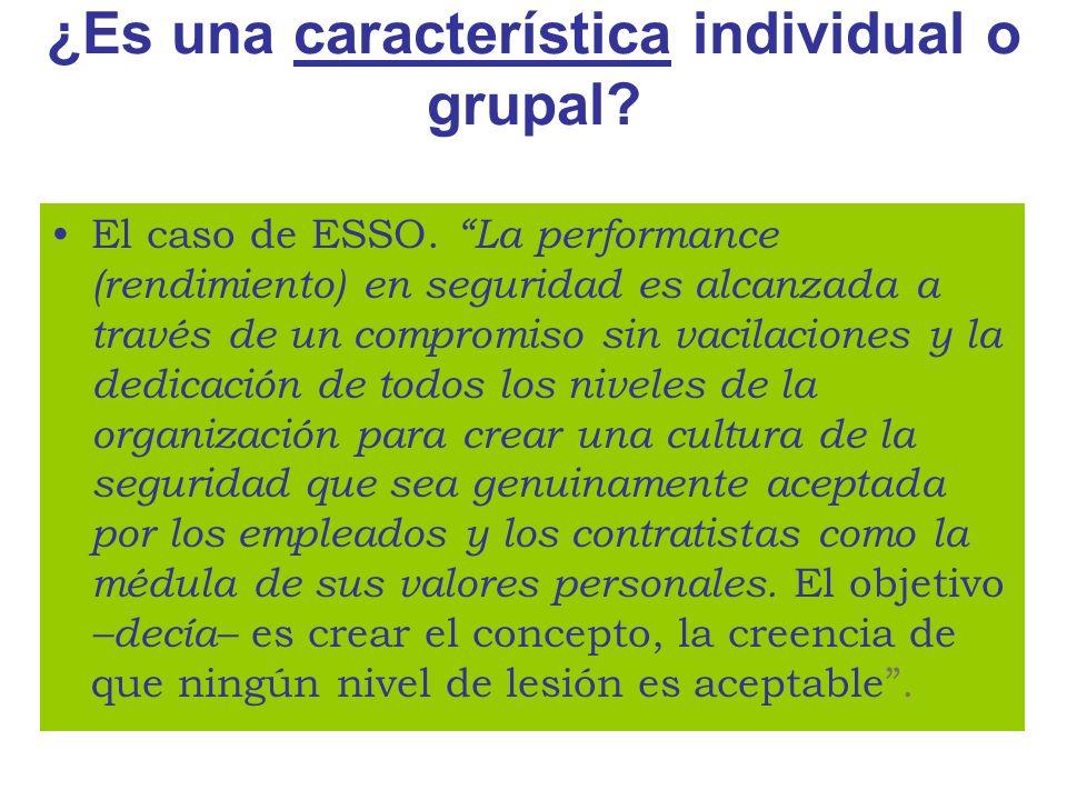 ¿Es una característica individual o grupal