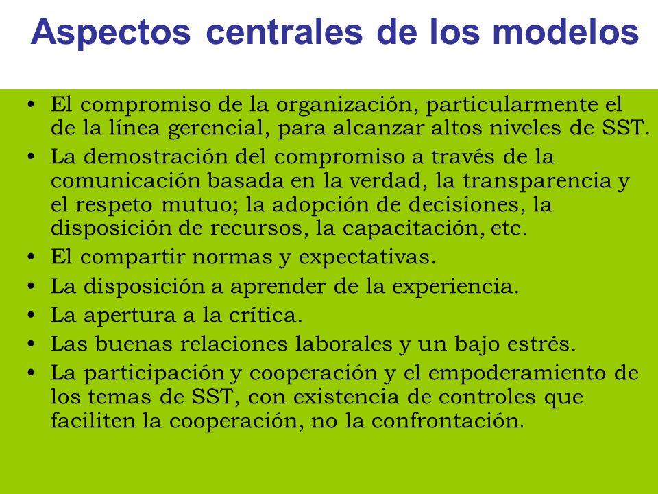 Aspectos centrales de los modelos