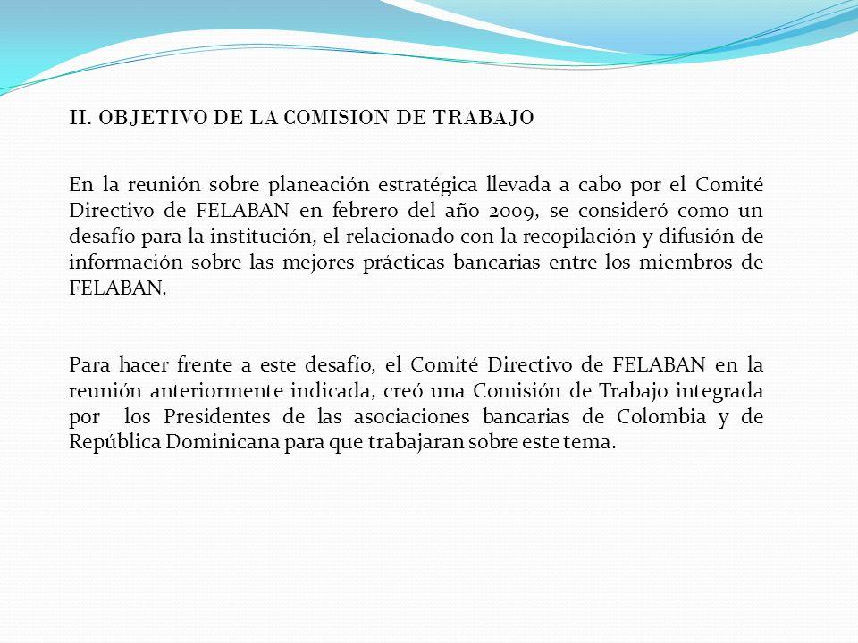 II. OBJETIVO DE LA COMISION DE TRABAJO