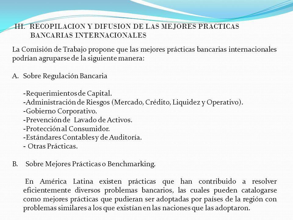 III. RECOPILACION Y DIFUSION DE LAS MEJORES PRACTICAS