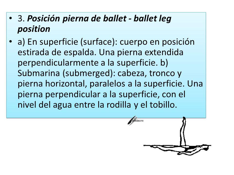 3. Posición pierna de ballet - ballet leg position