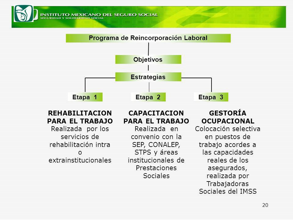 Programa de Reincorporación Laboral