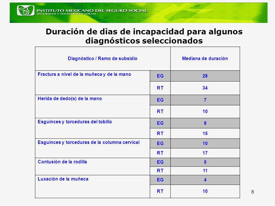 Diagnóstico / Ramo de subsidio