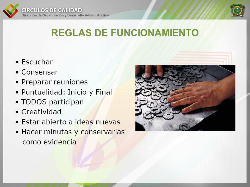 REGLAS DE FUNCIONAMIENTO