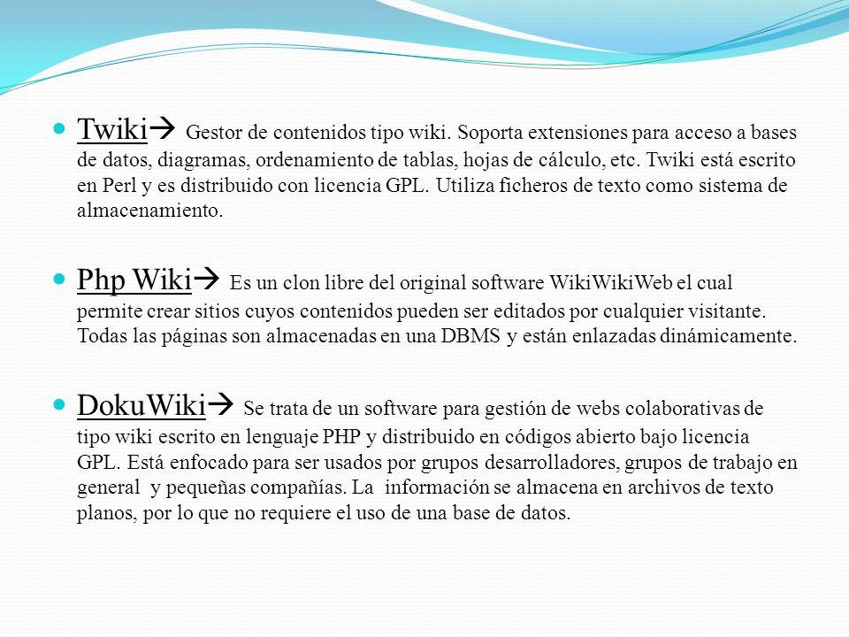 Twiki Gestor de contenidos tipo wiki