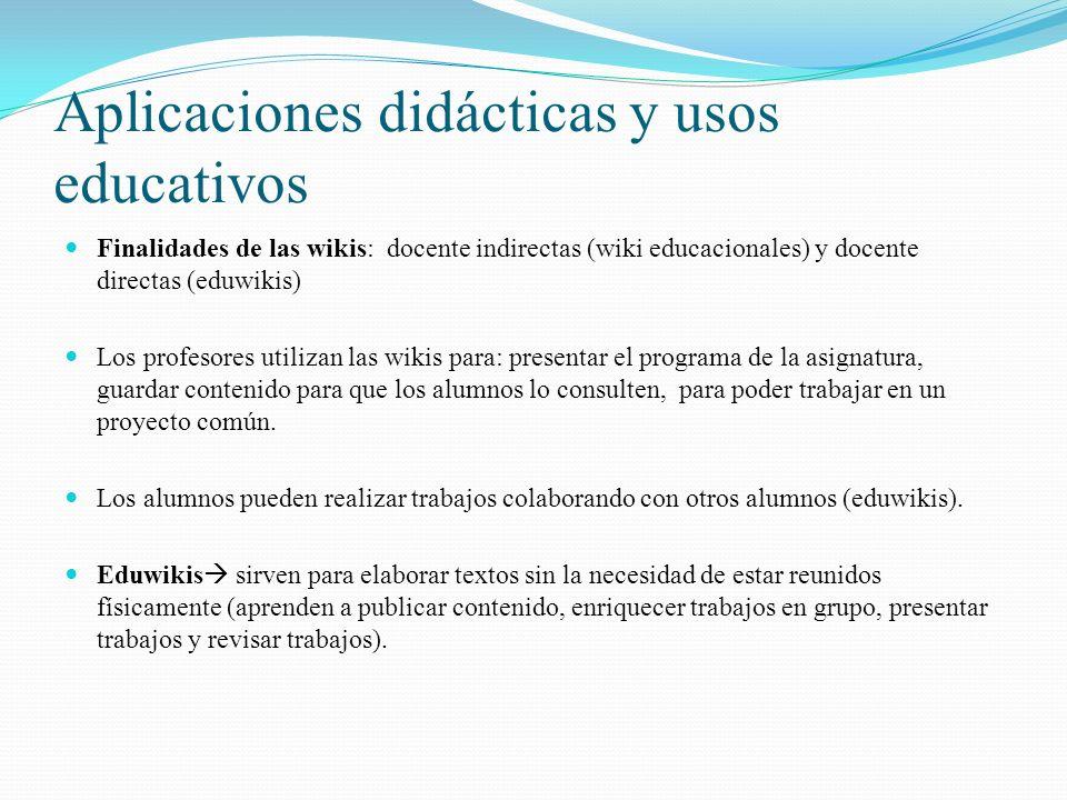 Aplicaciones didácticas y usos educativos