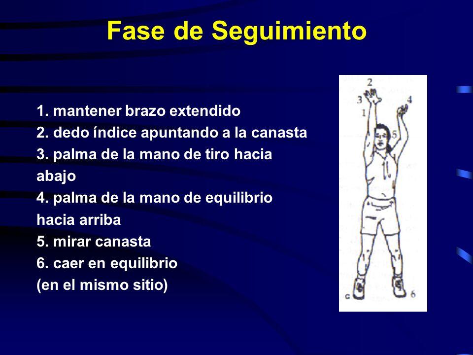 Fase de Seguimiento 1. mantener brazo extendido