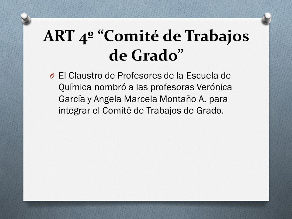 ART 4º Comité de Trabajos de Grado
