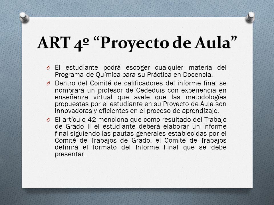 ART 4º Proyecto de Aula