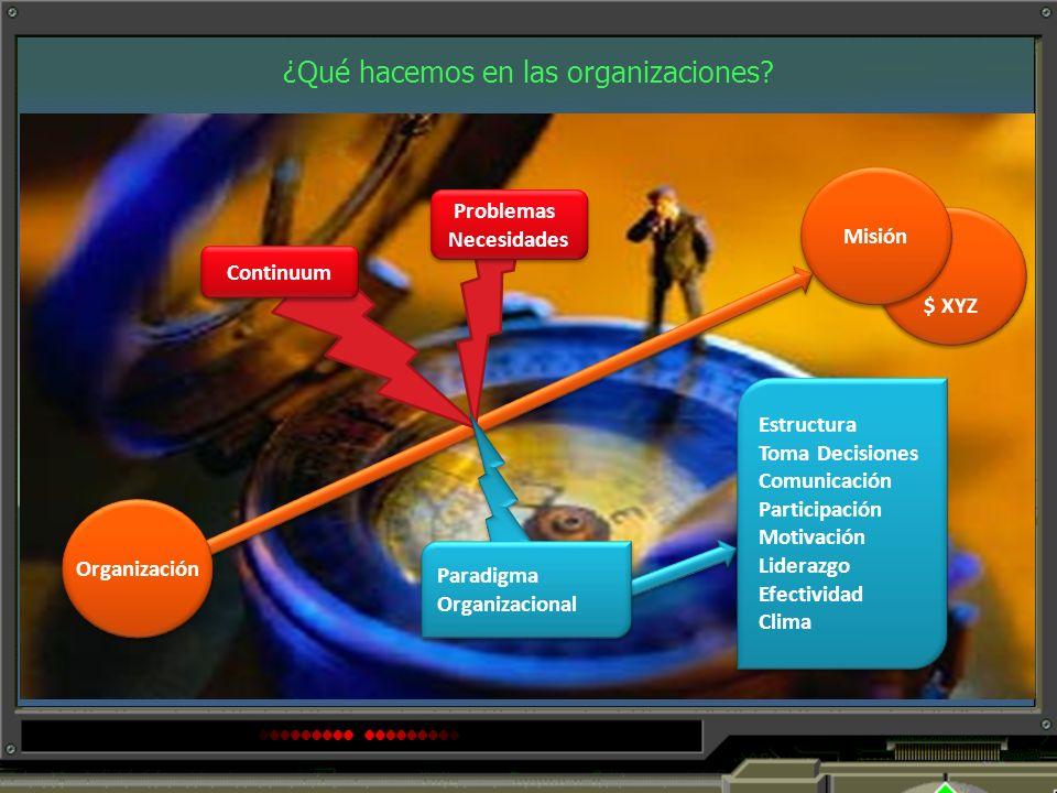 ¿Qué hacemos en las organizaciones