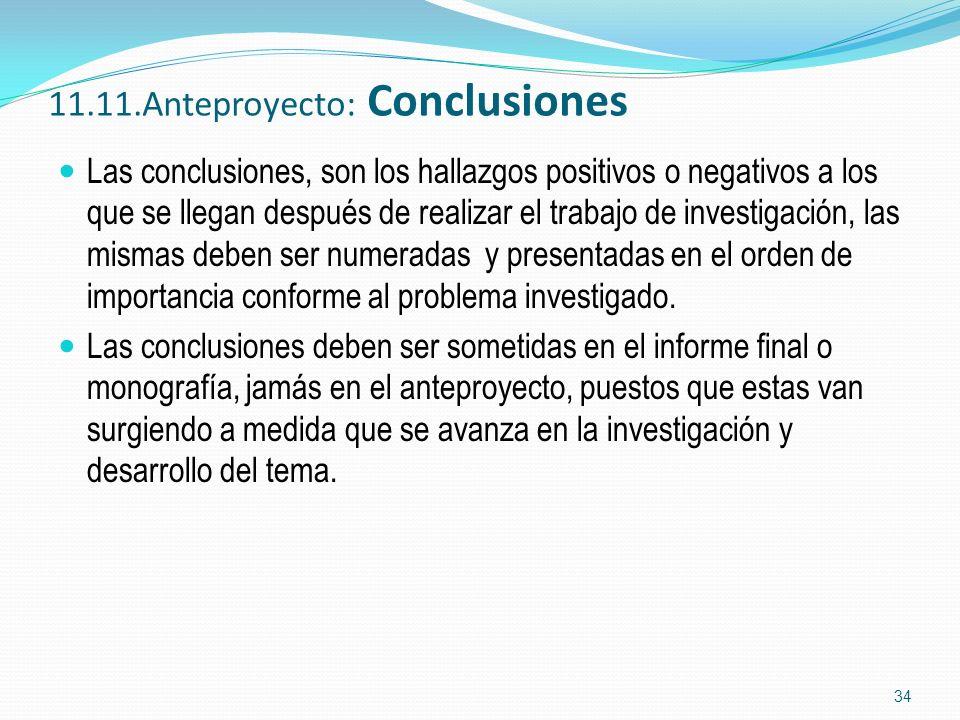 11.11.Anteproyecto: Conclusiones