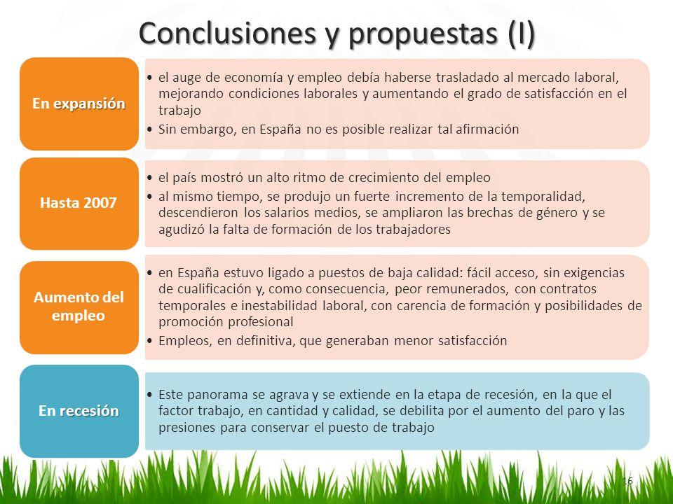 Conclusiones y propuestas (I)