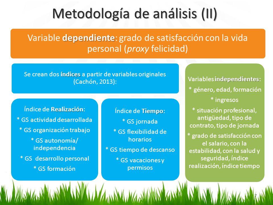Metodología de análisis (II)