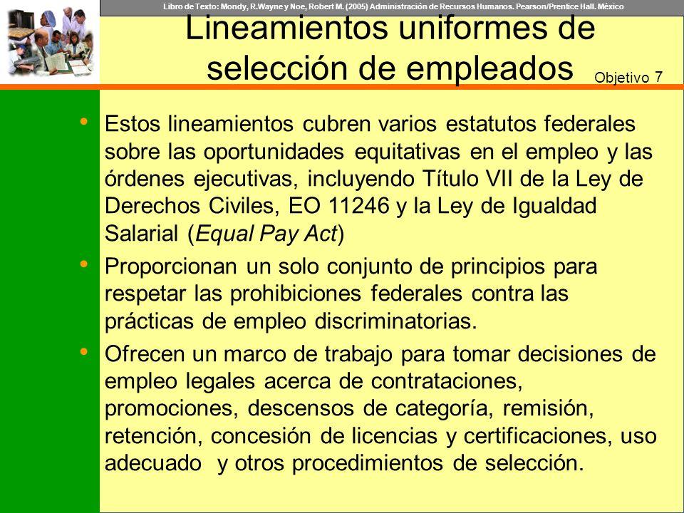 Lineamientos uniformes de selección de empleados