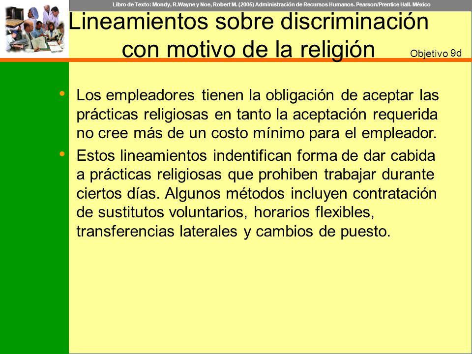 Lineamientos sobre discriminación con motivo de la religión