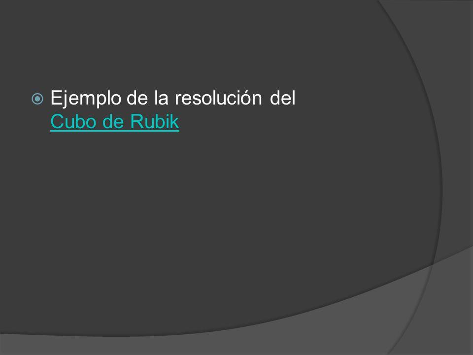 Ejemplo de la resolución del Cubo de Rubik