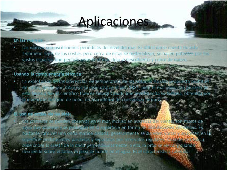 Aplicaciones En las mareas:
