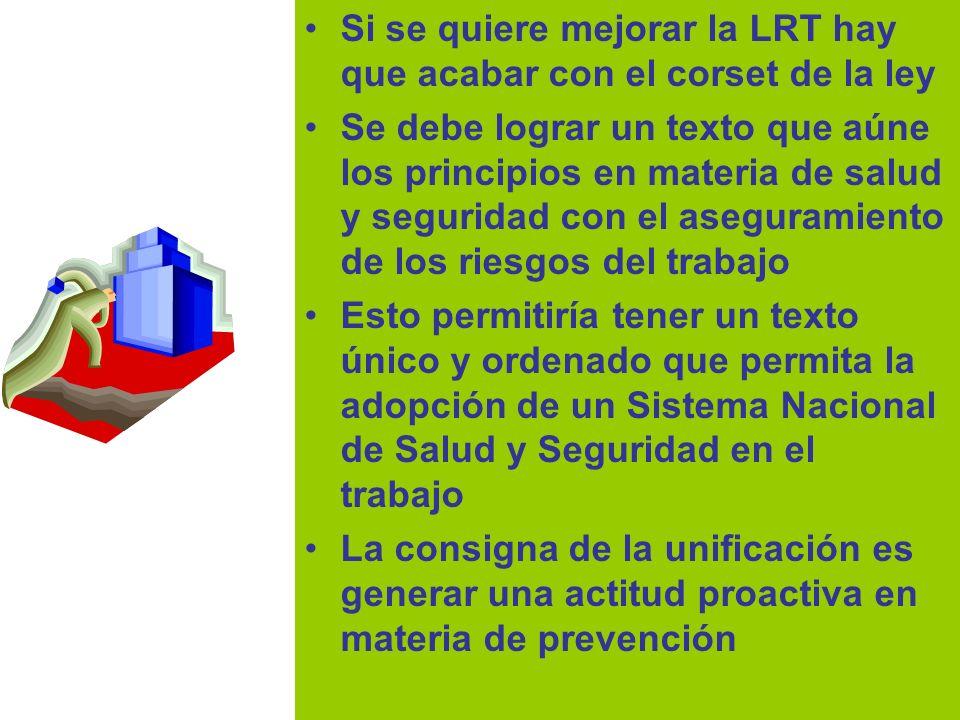 Si se quiere mejorar la LRT hay que acabar con el corset de la ley