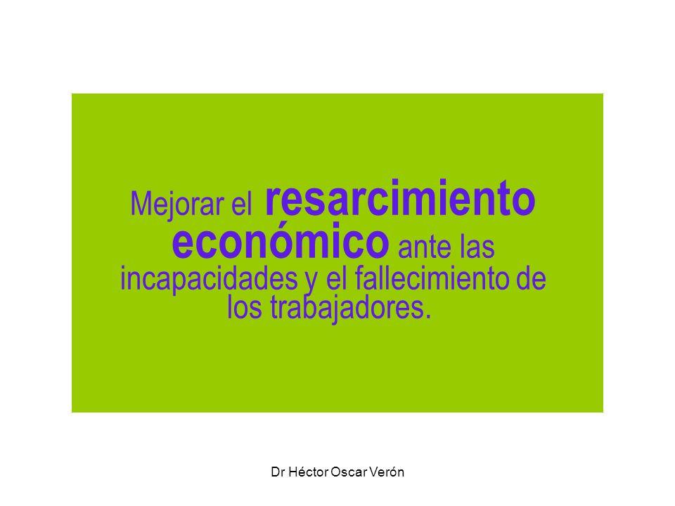 Mejorar el resarcimiento económico ante las incapacidades y el fallecimiento de los trabajadores.