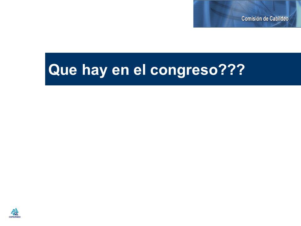 Que hay en el congreso